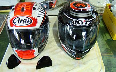 ヘルメット施工